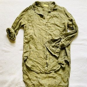 CP Shades Green Linen Tunic
